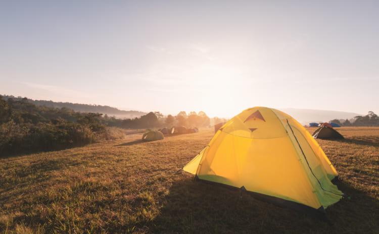 キャンプで便利なタープは ロープの長さを工夫|綺麗に張る秘密は